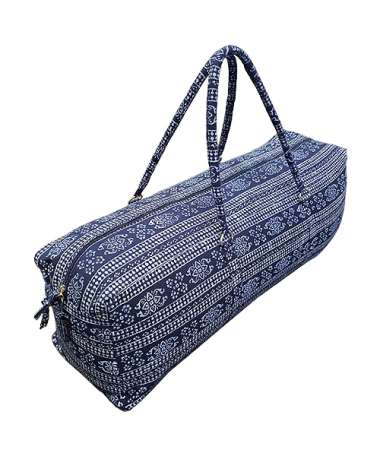 Navy Print Yoga & Gym Kit Bag