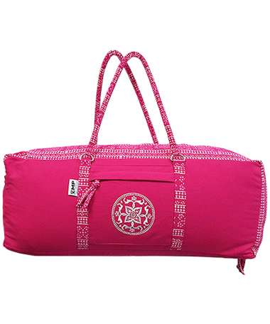 Pink Embroidered Yoga & Gym Kit Bag